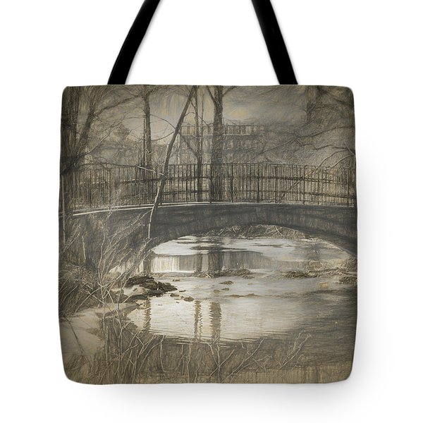 Bridge At The Fens Tote Bag