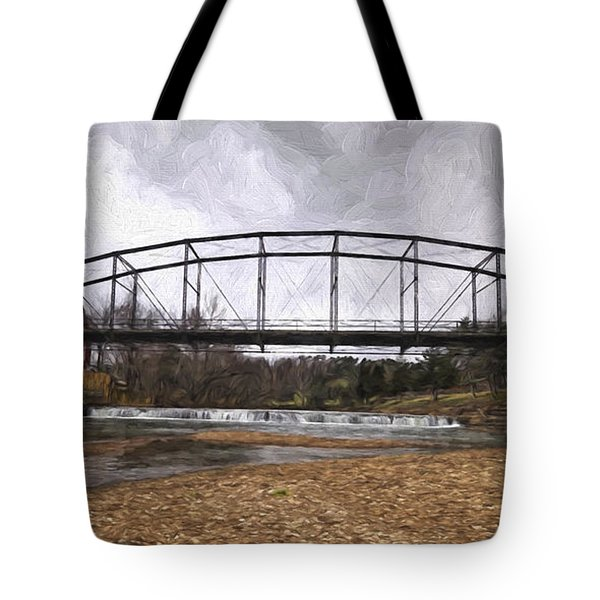 Bridge At The Mill Tote Bag