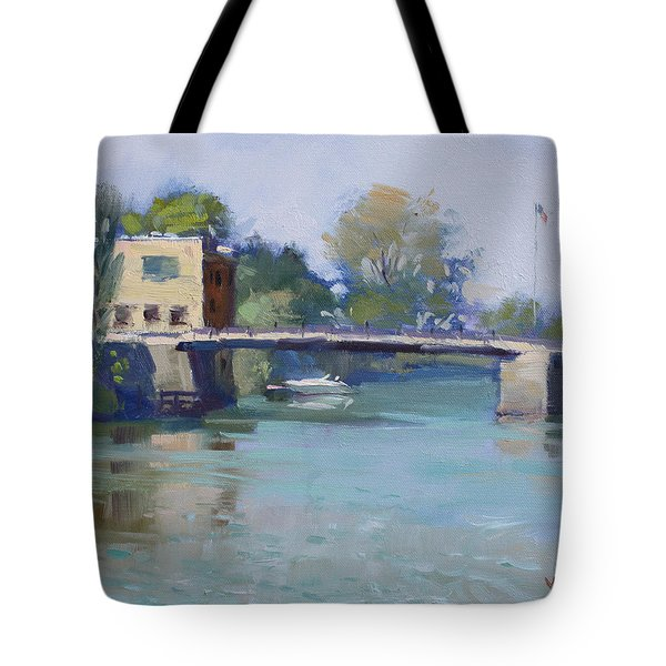 Bridge At Tonawanda Canal Tote Bag
