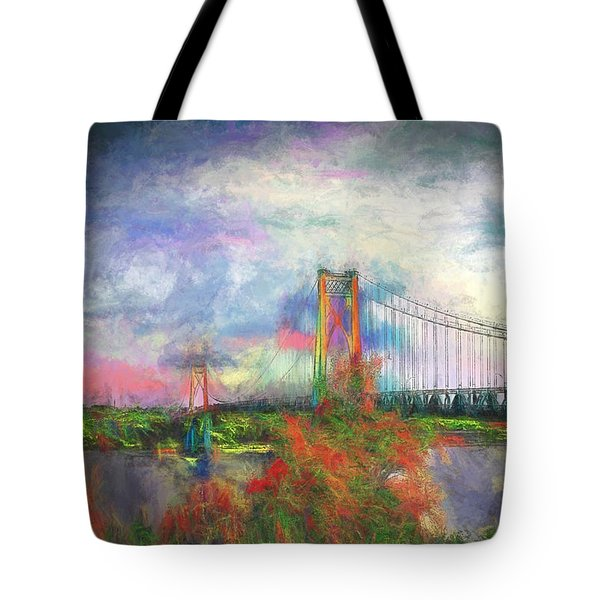 Bridge Blues Tote Bag