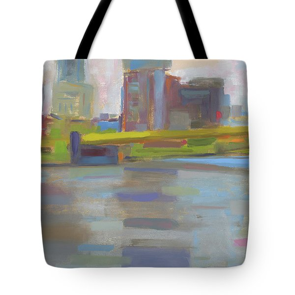 Tote Bag featuring the painting Bridge by Chris N Rohrbach