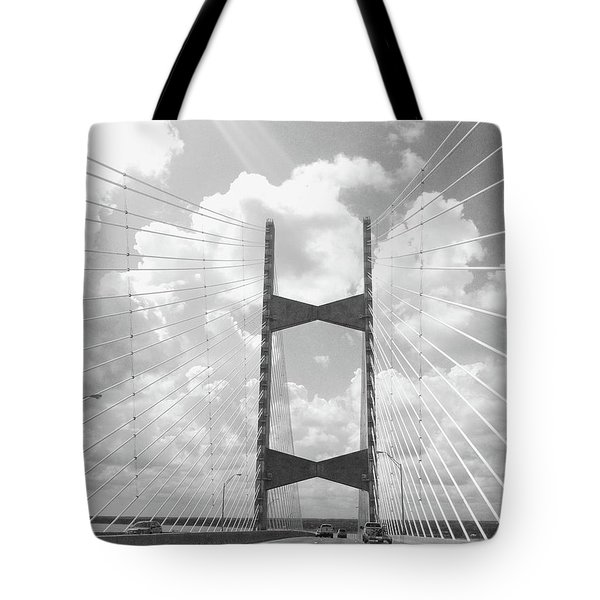 Bridge Clouds Tote Bag