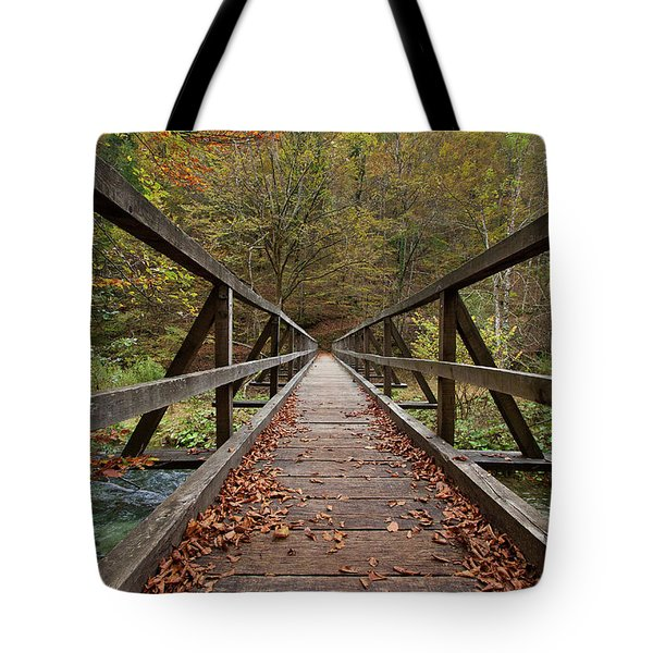 Tote Bag featuring the photograph Bridge by Davor Zerjav
