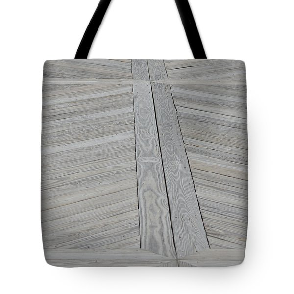 Bridge Floor Tote Bag by Linda Geiger