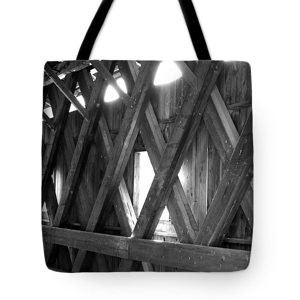 Tote Bag featuring the photograph Bridge Glow by Greg Fortier