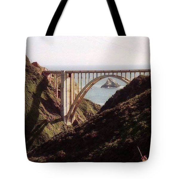 Bridge Highway 1 Coastal Road Tote Bag
