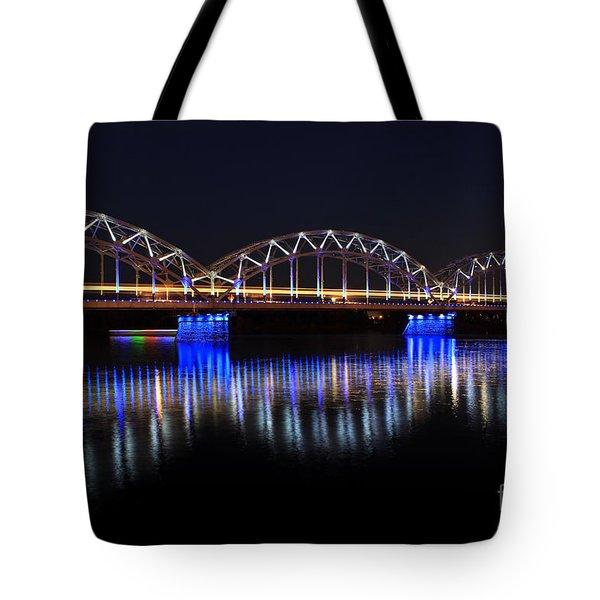 Bridge In Riga  Tote Bag