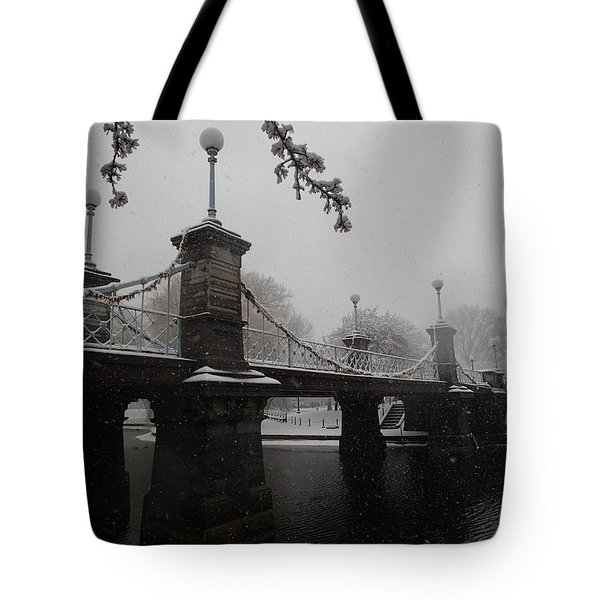 Bridge In Suspension 1867 Tote Bag