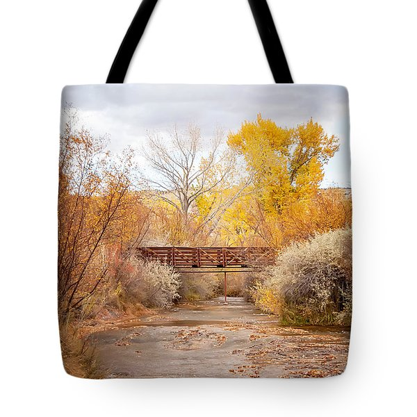 Bridge In Teasdale Tote Bag
