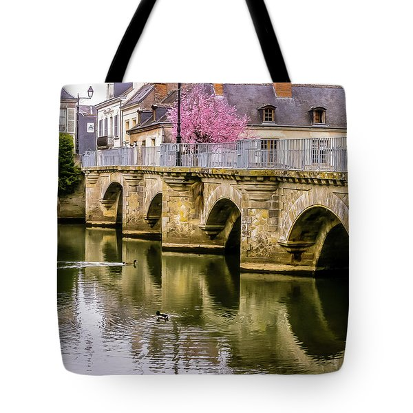 Bridge In The Loir Valley, France Tote Bag