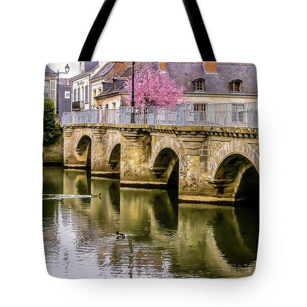 Bridge In The Loir Valley, France Tote Bag