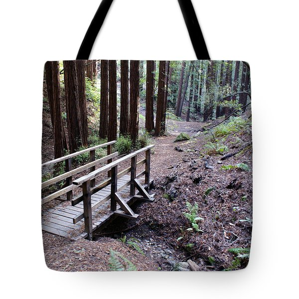 Bridge In The Redwoods Tote Bag