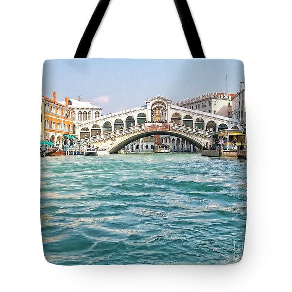 Tote Bag featuring the photograph Bridge In Venice by Roberta Byram