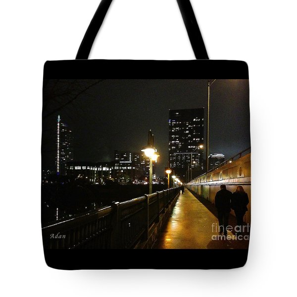 Bridge Into The Night Tote Bag by Felipe Adan Lerma