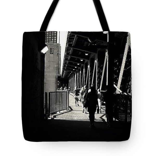 Bridge - Lower Lake Shore Drive At Navy Pier Chicago. Tote Bag