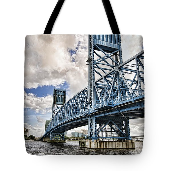 Tote Bag featuring the photograph Bridge Of Blues II by Anthony Baatz