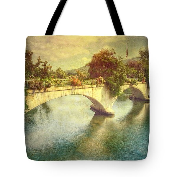 Bridge Of Flowers  Tote Bag