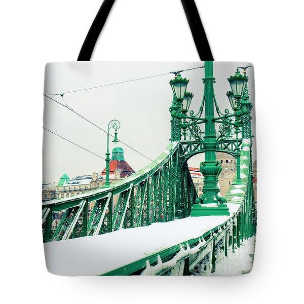 Bridge Of Liberty In Budapest Tote Bag by Anastasy Yarmolovich