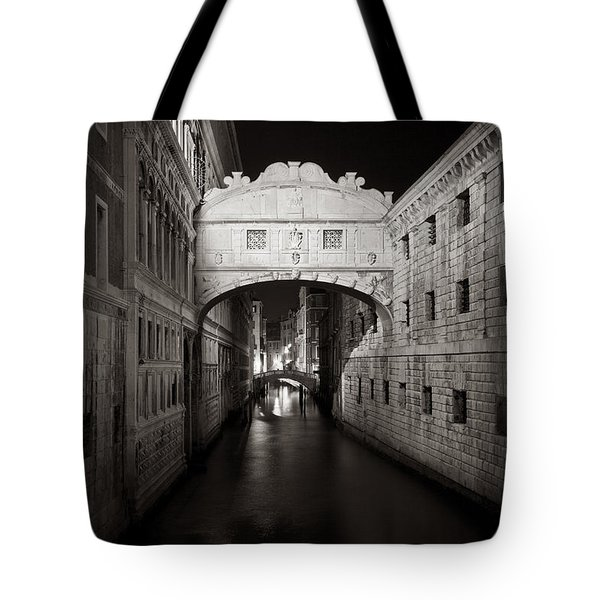 Bridge Of Sighs In The Night Tote Bag