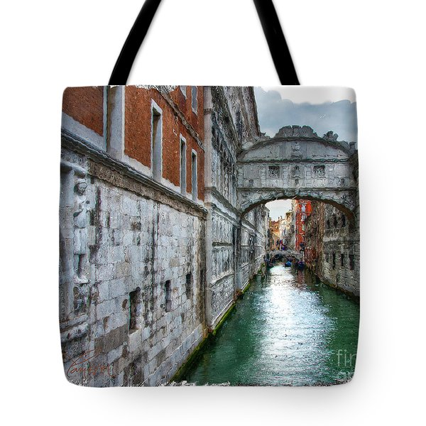 Bridge Of Sighs Tote Bag by Tom Cameron