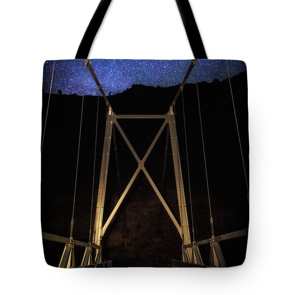 Tote Bag featuring the photograph Bridge Of Stars by Cat Connor