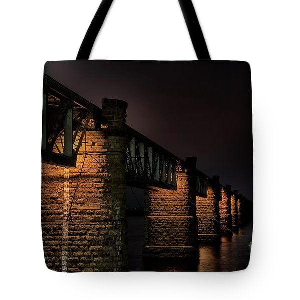Bridge On Holy River Godavari Tote Bag