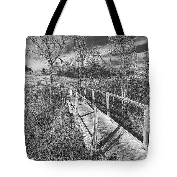 Bridge On The Prairie Tote Bag
