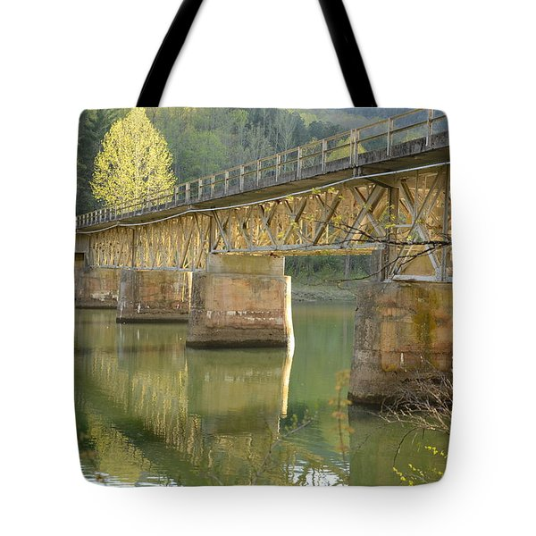 Bridge Over Calm Water Tote Bag