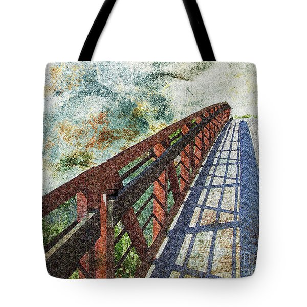 Bridge Over Clouds Tote Bag