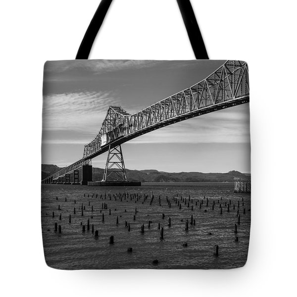 Tote Bag featuring the photograph Bridge Over Columbia by Jeff Kolker