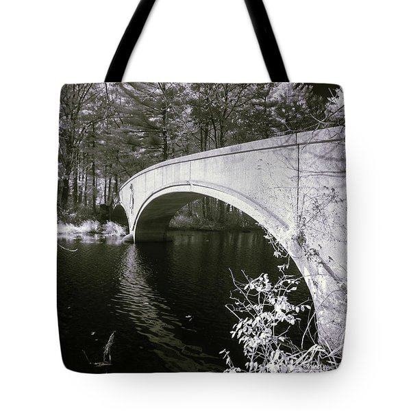 Tote Bag featuring the photograph Bridge Over Infrared Waters by Brian Hale