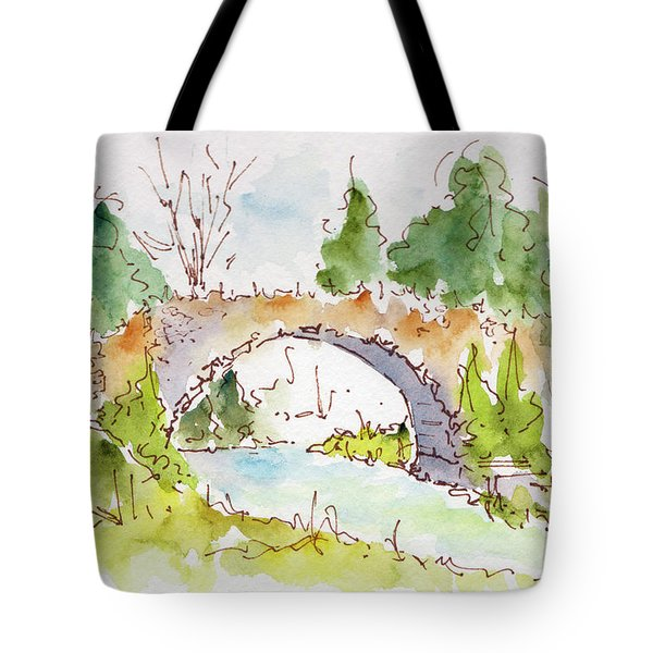 Bridge Over Spencer Creek Tote Bag