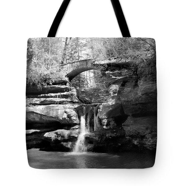 Stone Bridge Over The Falls Tote Bag
