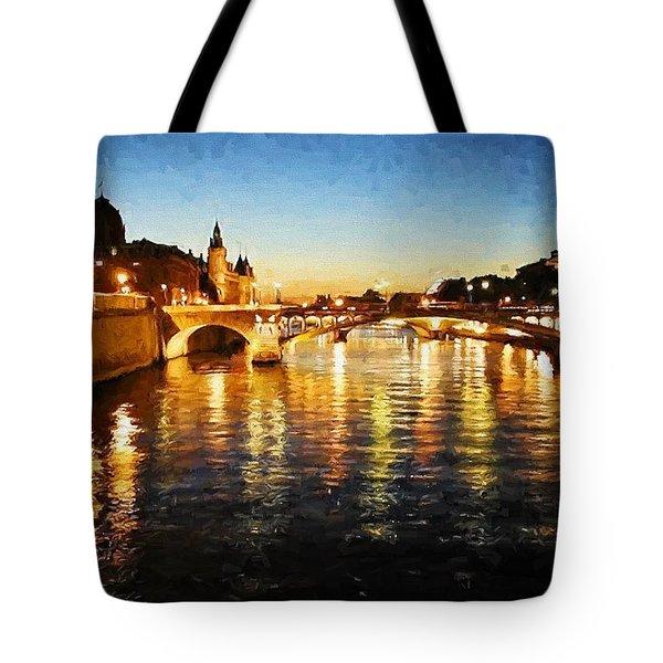 Bridge Over The Seine Tote Bag