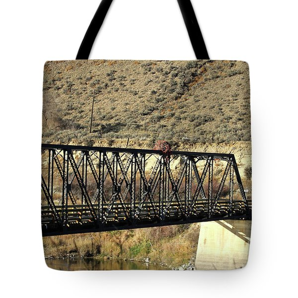 Bridge Over The Thompson Tote Bag