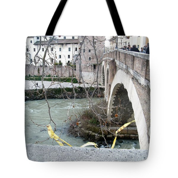 Bridge Over The Tyre Tote Bag by Melinda Dare Benfield