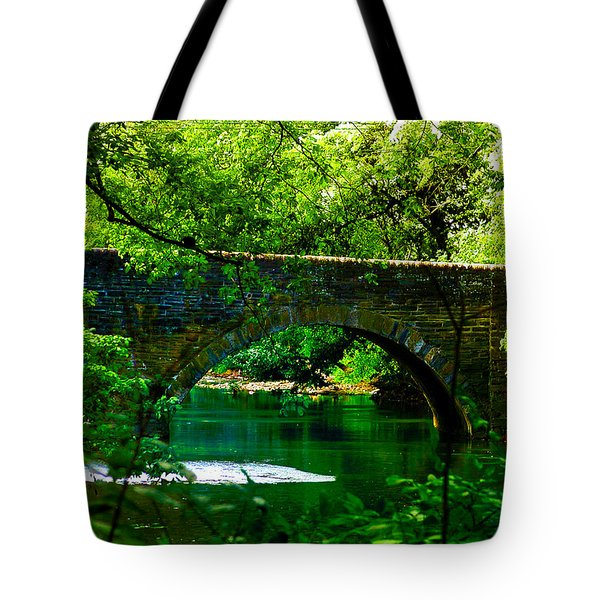 Bridge Over The Wissahickon Tote Bag by Bill Cannon
