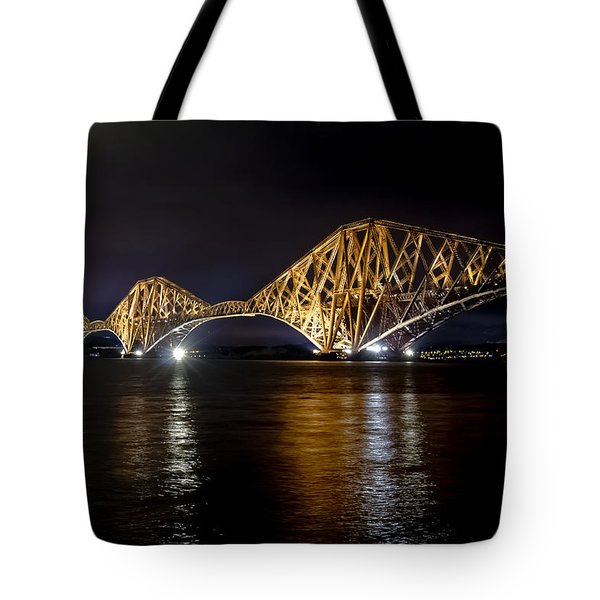 Bridge Over Water Lights. Tote Bag