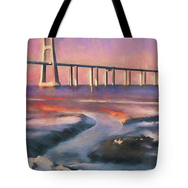 Bridge Over Waters Tote Bag