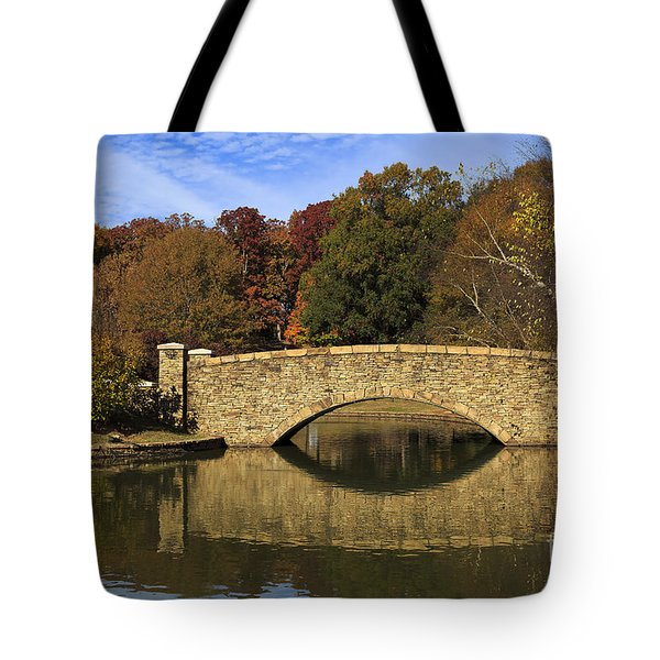 Bridge Reflection Tote Bag