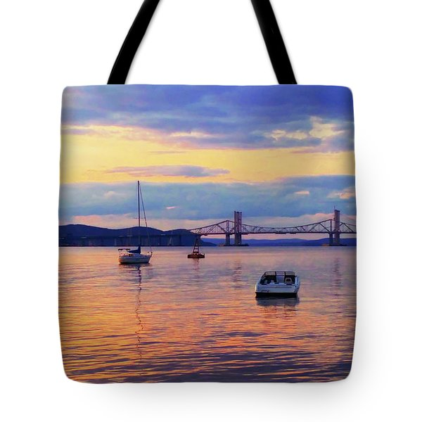 Bridge Sunset Tote Bag