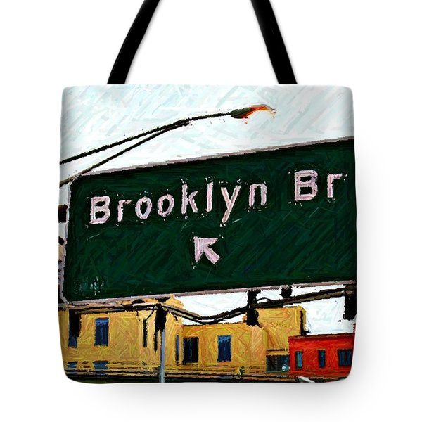 Bridge Thisaway Sketch Tote Bag by Randy Aveille