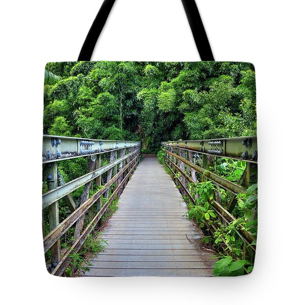 Bridge To Bamboo Forest Tote Bag