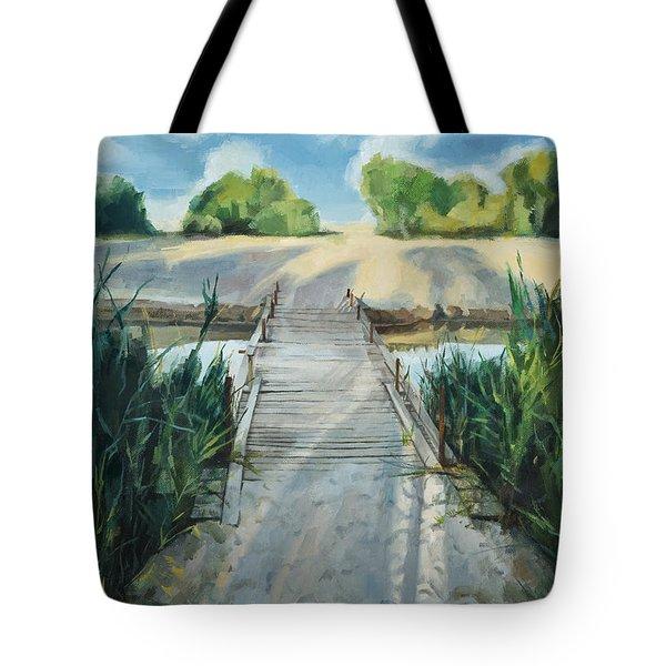 Bridge To Beach Tote Bag