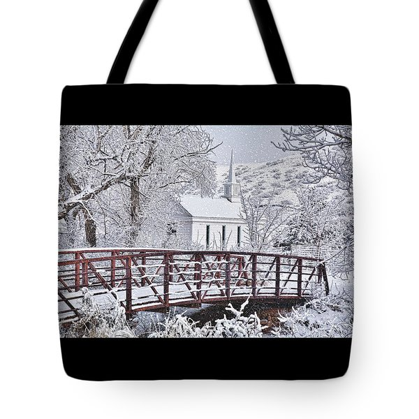 Tote Bag featuring the photograph Bridge To Faith by Diane Alexander