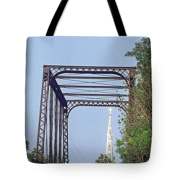 Bridge To God Tote Bag