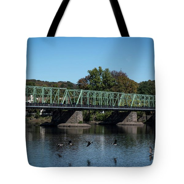 Bridge To Lambertville 2 Tote Bag