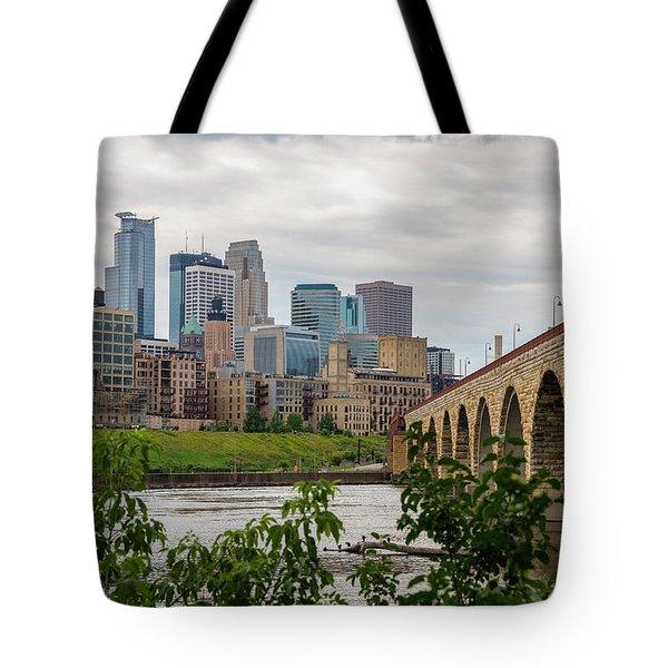 Bridge To Minneapolis Tote Bag