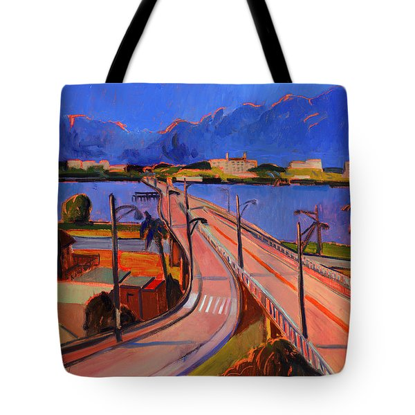 Bridge To Palm Beach Tote Bag