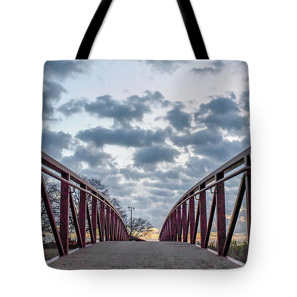 Bridge To The Clouds Tote Bag